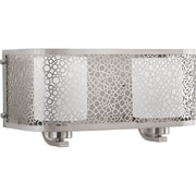Progress Lighting Mingle 2 Light Vanity Light; Brushed Nickel
