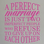 SweetumsWallDecals A Perfect Marriage Wall Decal; Hot Pink