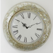 Fetco Home Decor 17.5'' Manoli Clock; Cream