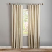 Best Home Fashion, Inc. Twine Curtain Panels (Set of 2); 52 inch W x 84 inch L by