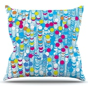 KESS InHouse Color Hiving by Frederic Levy-Hadida Outdoor Throw Pillow; Sky Blue/Yellow