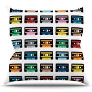 KESS InHouse Rainbow Tapes by Project M Outdoor Throw Pillow
