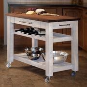 Martins Homewares Kitchen Island with Wood Top