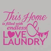 SweetumsWallDecals Endless Love and Laundry Wall Decal; Hot Pink