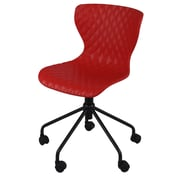 New Pacific Direct Camryn Mid-Back Task Chair; Red