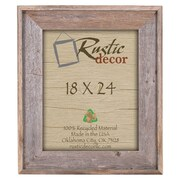 RusticDecor Rustic Reclaimed Barn Wood Wall Picture Frame; 24'' H x 18'' W x 2'' D