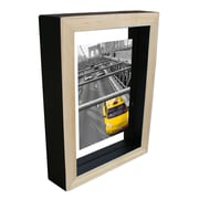 KingwinHomeDecor Wood Float Picture Frame; Black