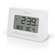 Oregon Scientific Dual Atomic Time Alarm Clock; White