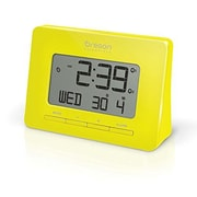 Oregon Scientific Dual Atomic Time Alarm Clock; Yellow