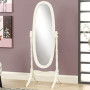 Roundhill Furniture Traditional Floor Cheval Mirror; White
