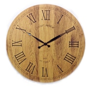 Mid Century Decor 20'' Tuscany Wooden Vintage Clock