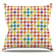 KESS InHouse Pastel Houndstooth by Empire Ruhl Outdoor Throw Pillow; Rainbow