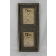 RusticDecor Barn Wood Vertical 2 Opening Picture Frame; 7'' H x 5'' W x 2'' D