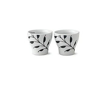 Royal Copenhagen Fluted Mega Egg Cups (Set of 2); Black Mega WYF078278638794