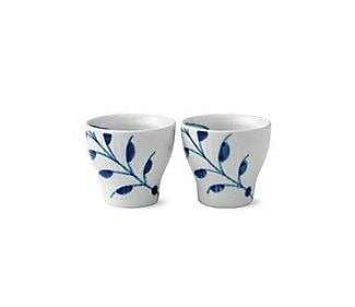 Royal Copenhagen Fluted Mega Egg Cups (Set of 2); Blue Mega WYF078278638795
