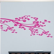 SweetumsWallDecals Corner Leafy Branch Wall Decal; Hot Pink