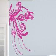 SweetumsWallDecals Corner Flourish Wall Decal; Hot Pink