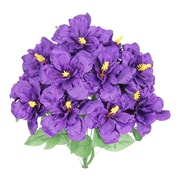 AdmiredbyNature Artificial Blooming Hibiscus Flowers Bush; Violet