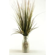 D & W Silks 34'' Mixed Grass in Ceramic Decorative Vase