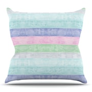 KESS InHouse Beach Wood by Monika Strigel Outdoor Throw Pillow; Pastel