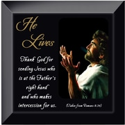 Dexsa ''He Lives Jesus Hands'' Glass Picture Frame