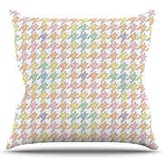 KESS InHouse Pastel Houndstooth by Empire Ruhl Outdoor Throw Pillow; Pastel