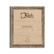 RusticDecor Barn Wood Reclaimed Wooden Signature Wall Picture Frame; 30'' H x 24'' W x 2'' D