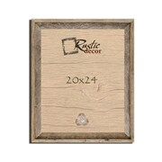 RusticDecor Barn Wood Reclaimed Wooden Signature Wall Picture Frame; 24'' H x 20'' W x 2'' D