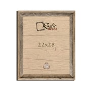 RusticDecor Barn Wood Reclaimed Wooden Signature Wall Picture Frame; 28'' H x 22'' W x 2'' D