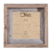 RusticDecor Signature Barn Wood Reclaimed Wood Wall Picture Frame; 6'' H x 6'' W x 2'' D