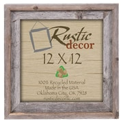 RusticDecor Signature Barn Wood Reclaimed Wood Wall Picture Frame; 12'' H x 12'' W x 2'' D