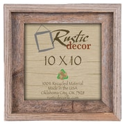 RusticDecor Signature Barn Wood Reclaimed Wood Wall Picture Frame; 10'' H x 10'' W x 2'' D
