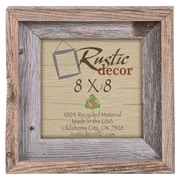 RusticDecor Signature Barn Wood Reclaimed Wood Wall Picture Frame; 8'' H x 8'' W x 2'' D
