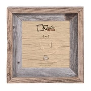 RusticDecor Signature Barn Wood Reclaimed Wood Wall Picture Frame; 4'' H x 4'' W x 2'' D