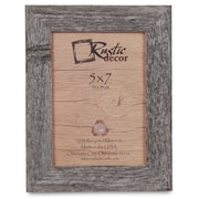 RusticDecor Barn Wood Reclaimed Wood Standard Picture Frame; 7'' H x 5'' W x 1'' D