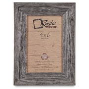 RusticDecor Barn Wood Reclaimed Wood Standard Picture Frame; 6'' H x 4'' W x 1'' D