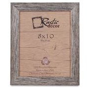 RusticDecor Barn Wood Reclaimed Wood Standard Picture Frame; 10'' H x 8'' W x 1'' D