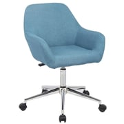 Porthos Home Montgomery Mid-Back Office Chair; Ocean Blue