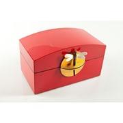 Mili Designs Lacquered Treasure Box; Red