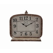 Creative Co-Op Cottage Metal Mantle Clock