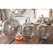 Creative Co-Op Sonoma 2 Piece Glass Bottle Set w/ Hand Painted Wine Label