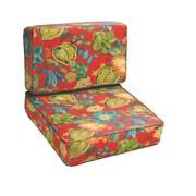 Mozaic Company Blaze Floral 2 Piece Outdoor Chair Cushion Set