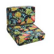 Mozaic Company Mira Floral 2 Piece Outdoor Chair Cushion Set