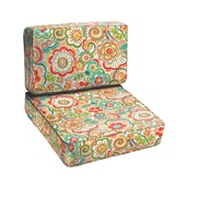 Mozaic Company Carnival 2 Piece Outdoor Chair Cushion Set