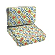 Mozaic Company Diamonds 2 Piece Outdoor Chair Cushion Set