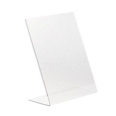 KostklipMD – Porte-affiche incliné monopièce L-Style, 11 x 81 po, transparent, 25/paquet (ESLS-105236)