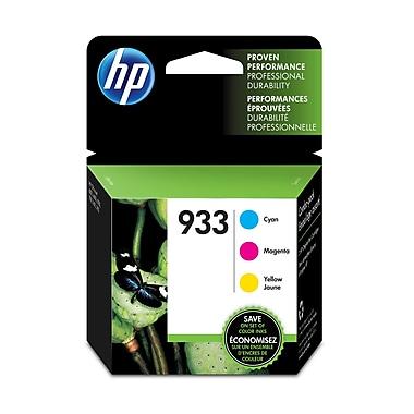 HP 933 Cyan, Magenta & Yellow Original Ink Cartridges, 3/Pack Combo (N9H56FN)