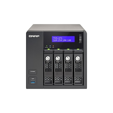 QNAP – Turbo vNAS haute performance à 4 baies avec 4K, 4 Go de mémoire vive (TVS-471-i3-4G-US)