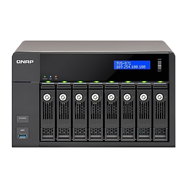 QNAP (TVS-871-i3-4G-US) 8-Bay High-Performance Turbo vNAS with 4K, 4GB RAM
