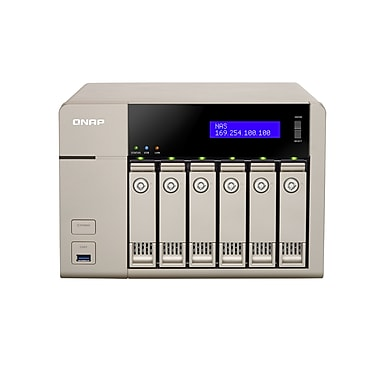 QNAP (TVS-663-4G-US) 6-Bay 10GbE-Ready Golden Cloud Turbo vNAS, 4GB RAM